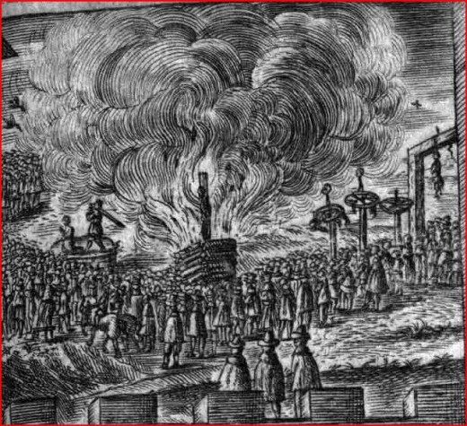 Bucher brûlant des sorcières. Image illustrant l'article de Ludger Wess